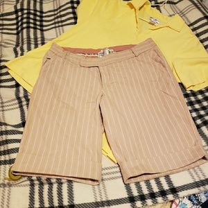 Pink & White Pinstripe Shorts